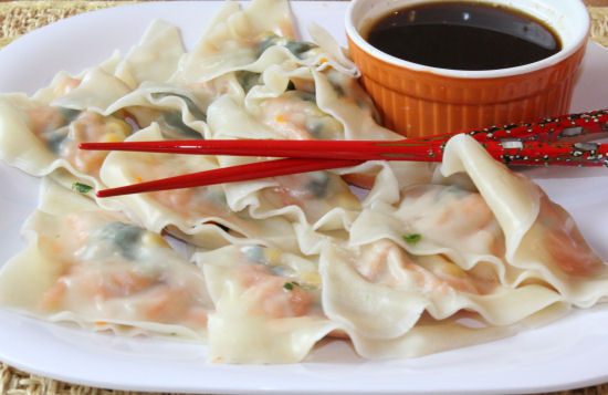 how to make vegetable pot stickers