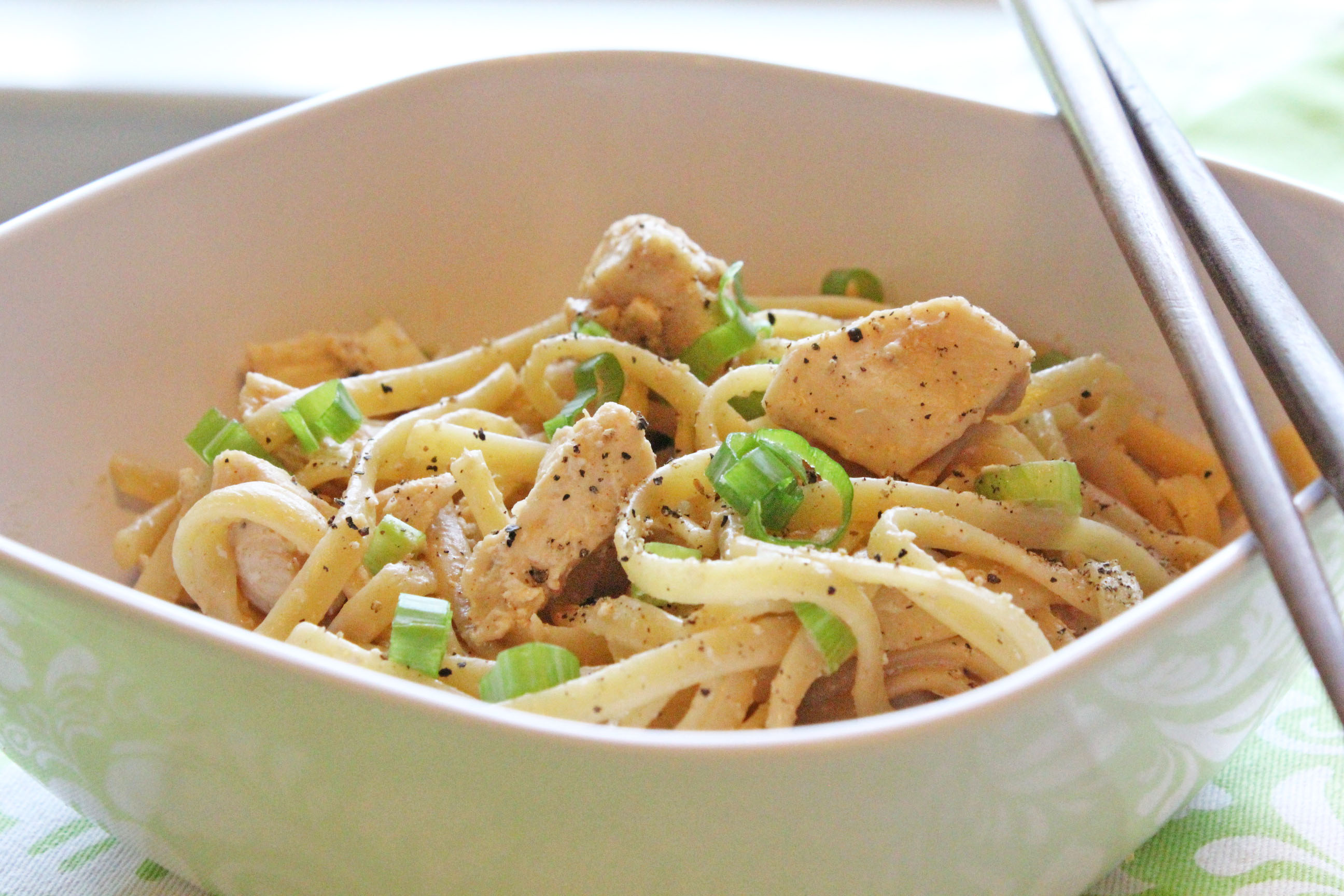 Asian Linguine with Chicken