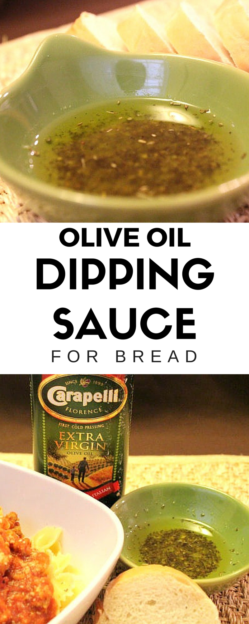 Olive Oil Dipping Sauce // serve with fresh baked bread and a piping hot bowl of spaghetti for a perfect weeknight dinner at home.
