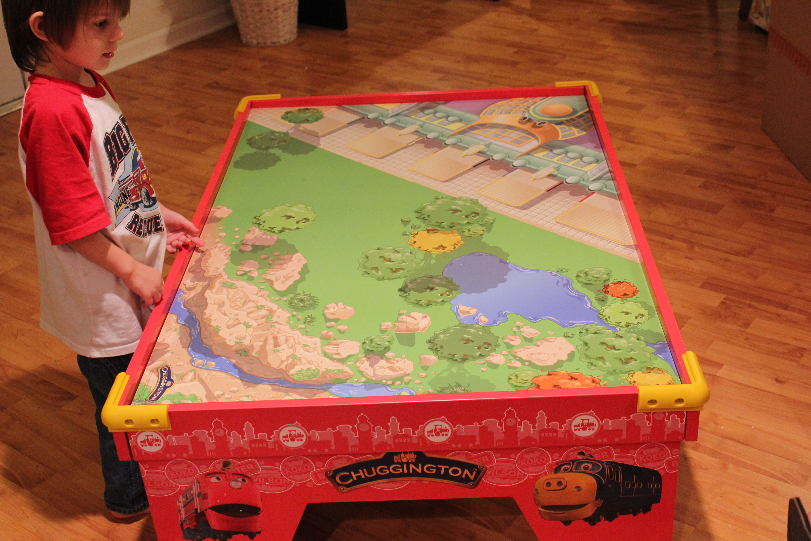 Chuggington Wooden Train Table | Simply Being Mommy