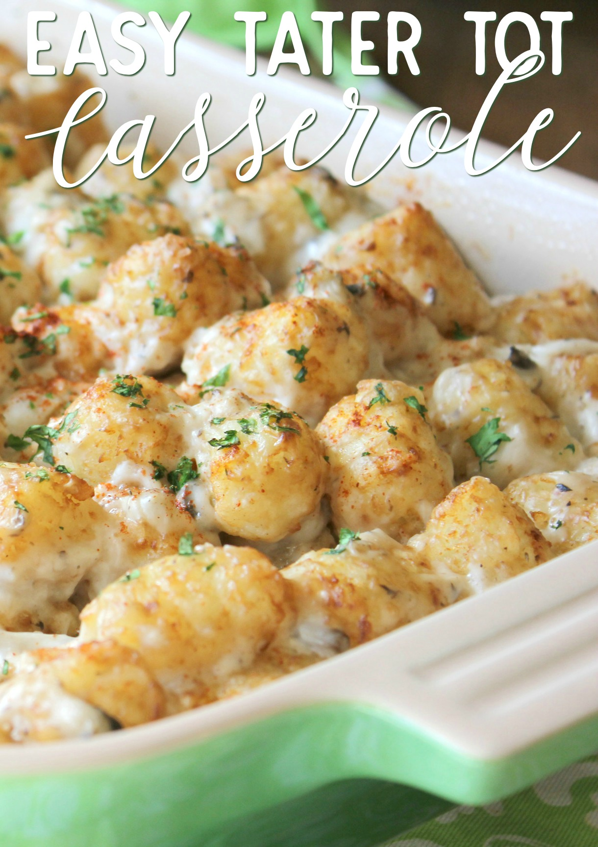 tater tot casserole with ground turkey recipe