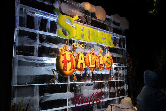 shrek the halls gaylord palms ice