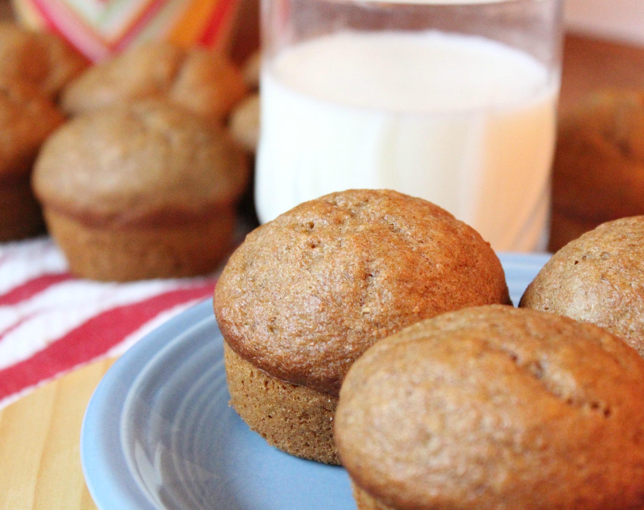 whole wheat banana bread muffin recipe