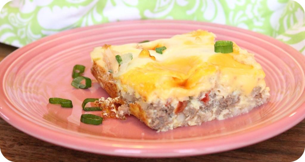 cheesy breakfast bake