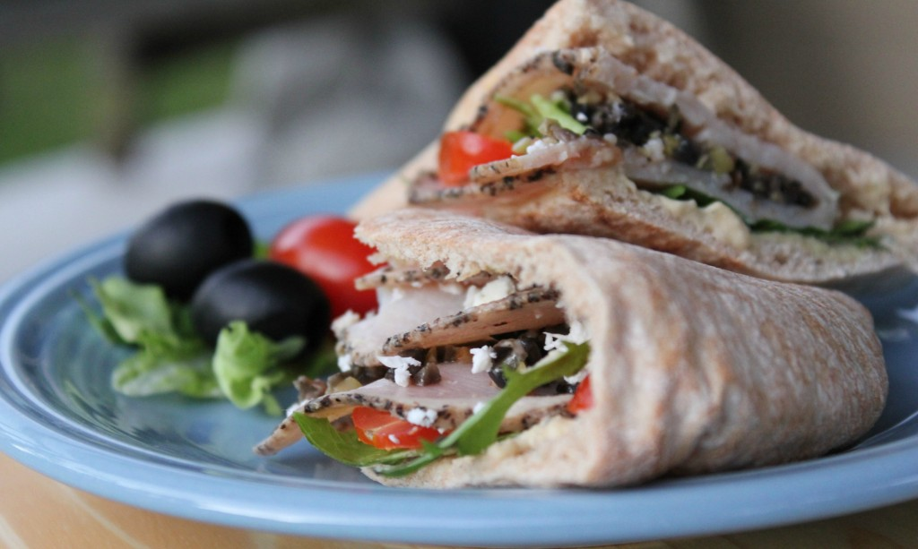 Greek Turkey and Olive Tapenade Pita recipe