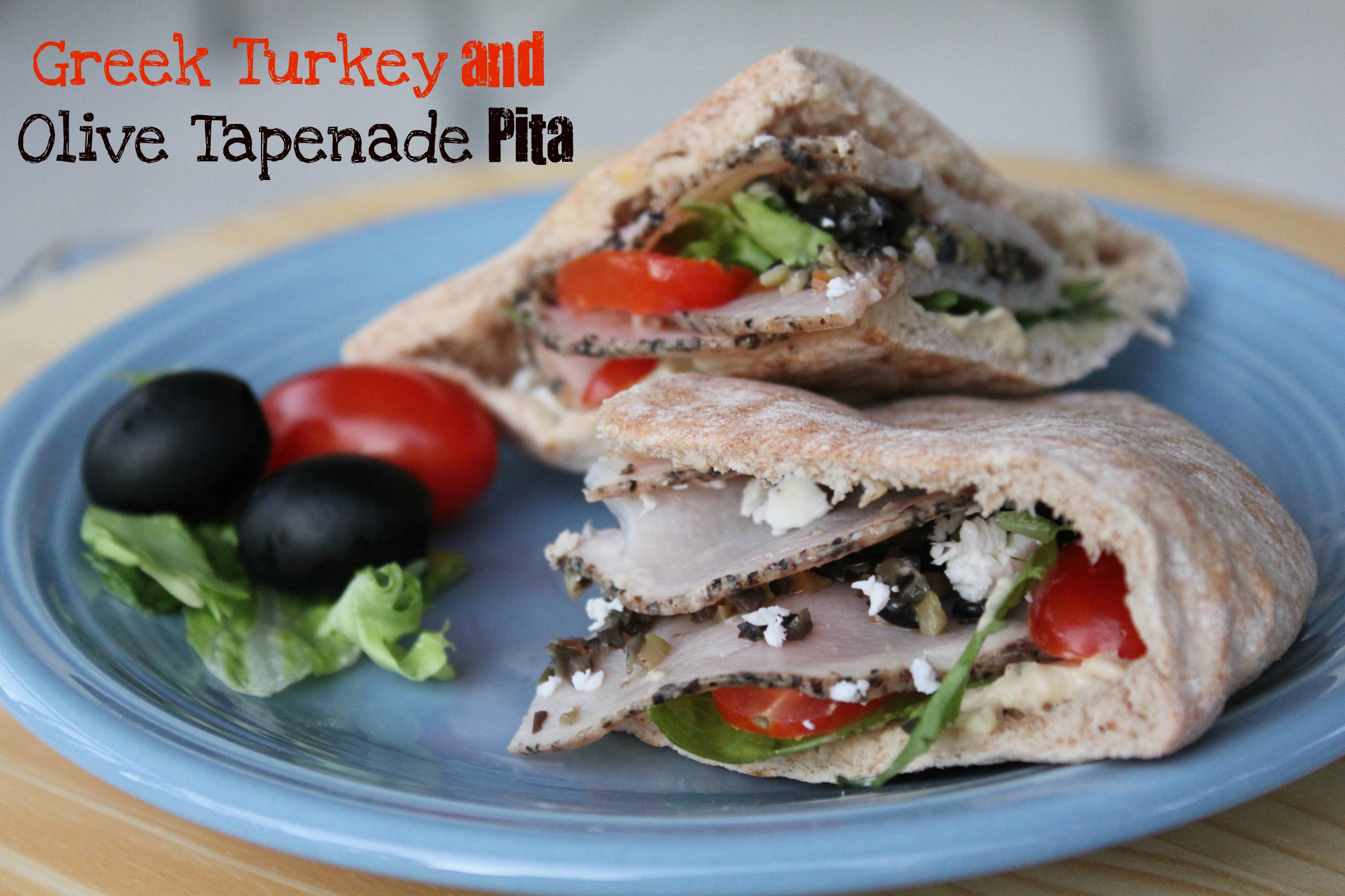 greek turkey and olive tapenade pita recipe