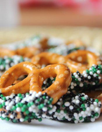 st patricks day inspired pretzels