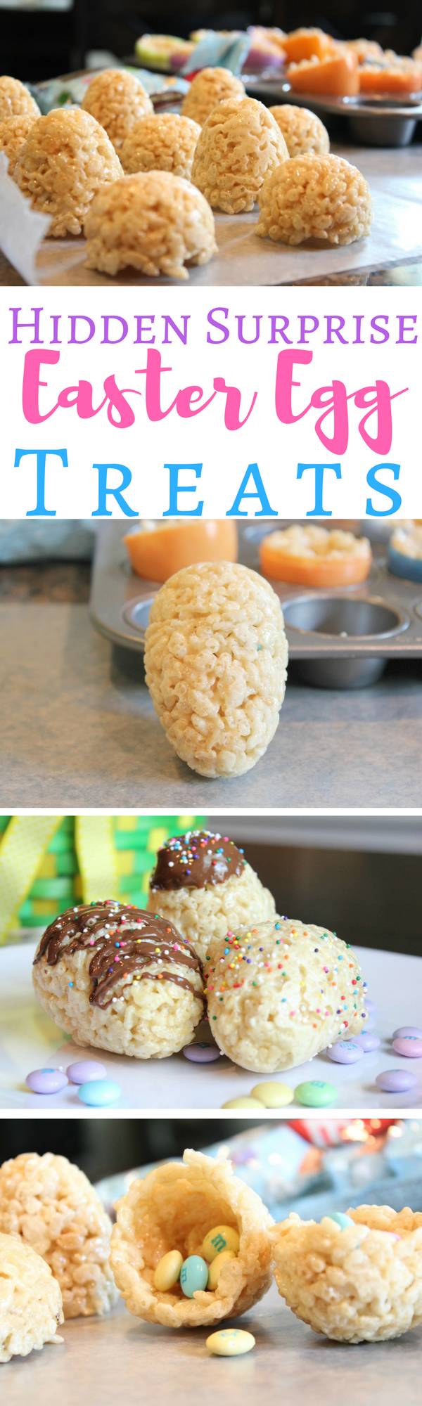 Celebrate Easter in a fun way with these Rice Krispies Hidden Surprise Easter Egg Treats.