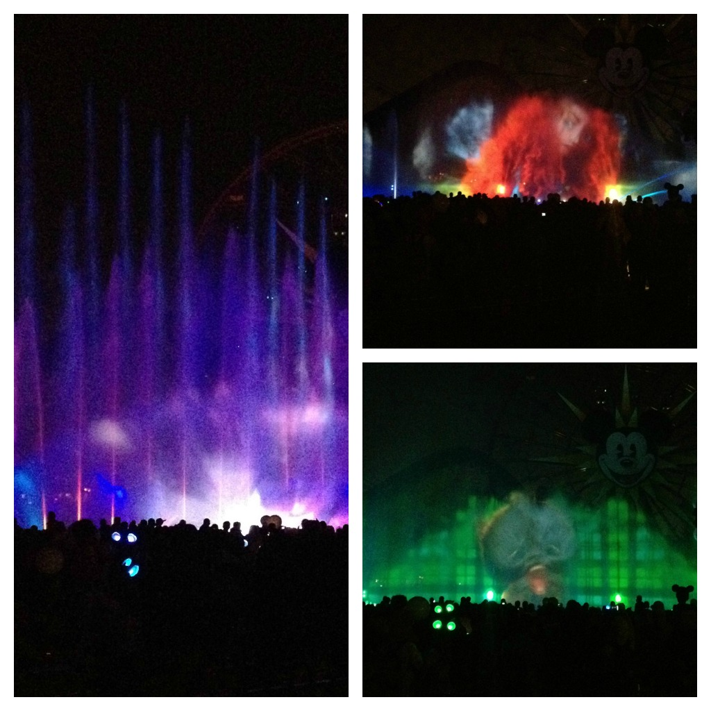 disneyland world of color collage