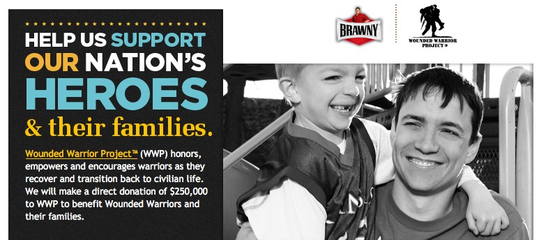 Brawny to Wounded Warrior Project