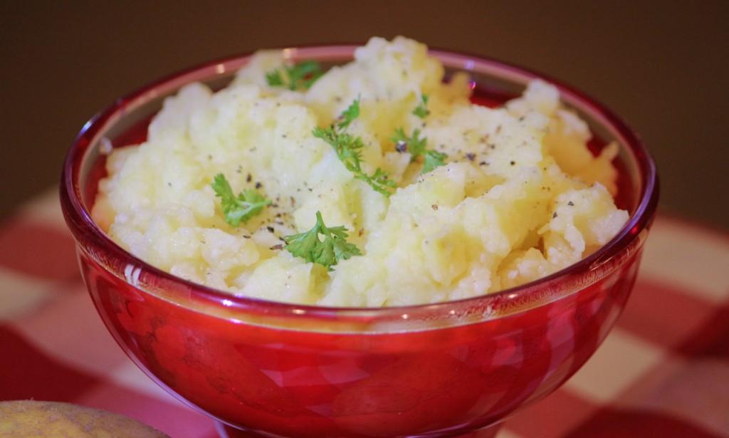Garlic Mashed Potatoes and Cauliflower recipe