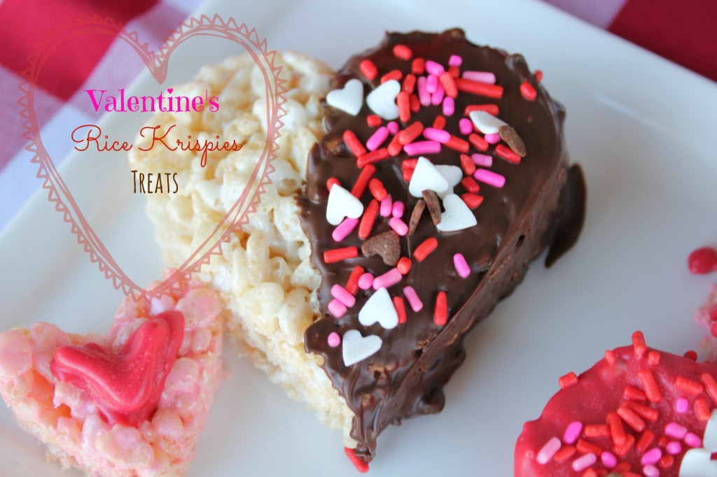 valentines heart rice krispies treats