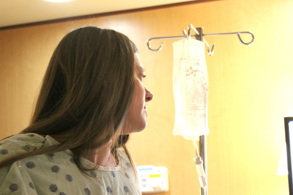 watching monitor during labor