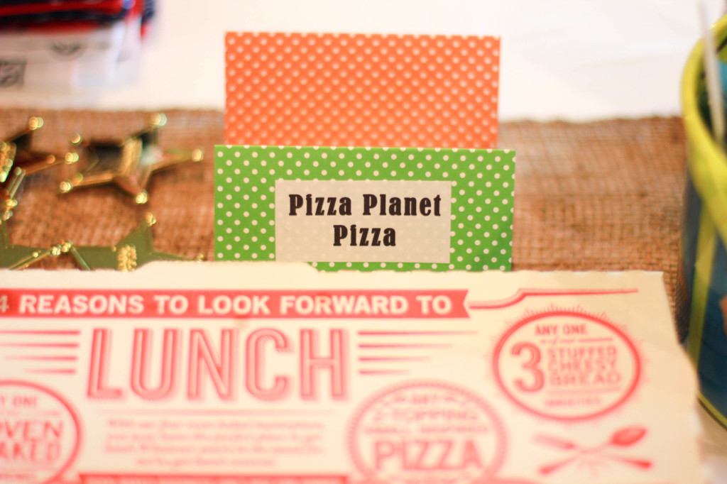 pizza planet pizza for toy story party