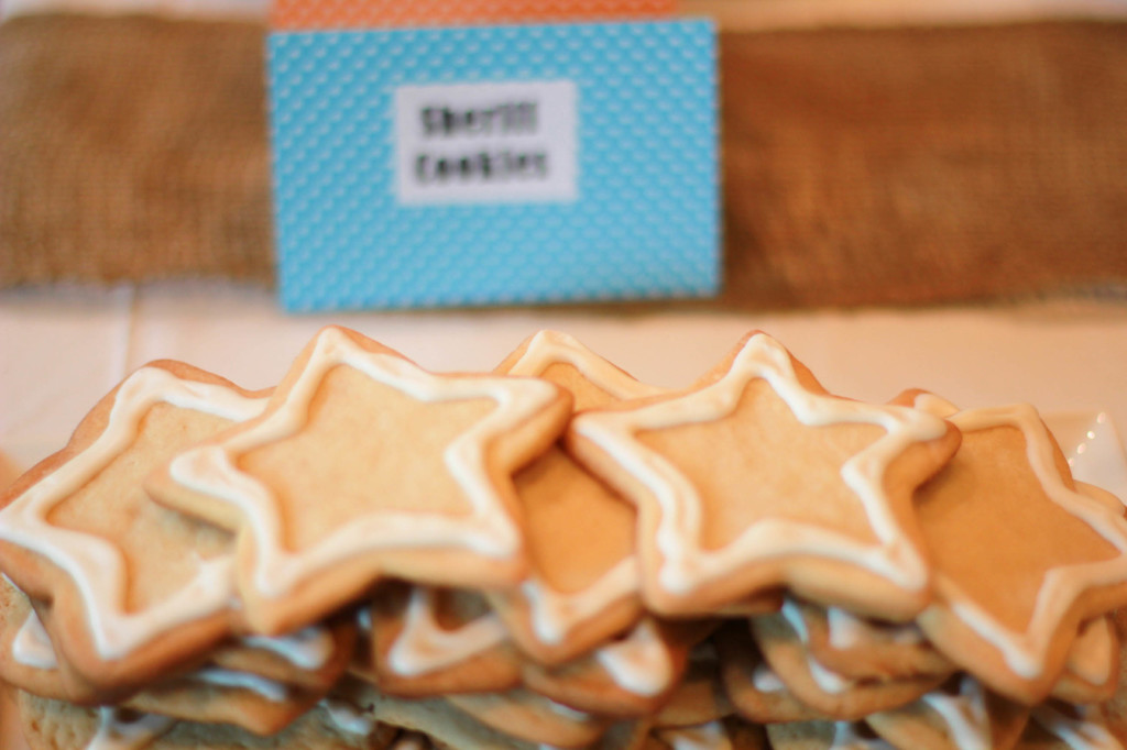 sheriff cookies for toy story party