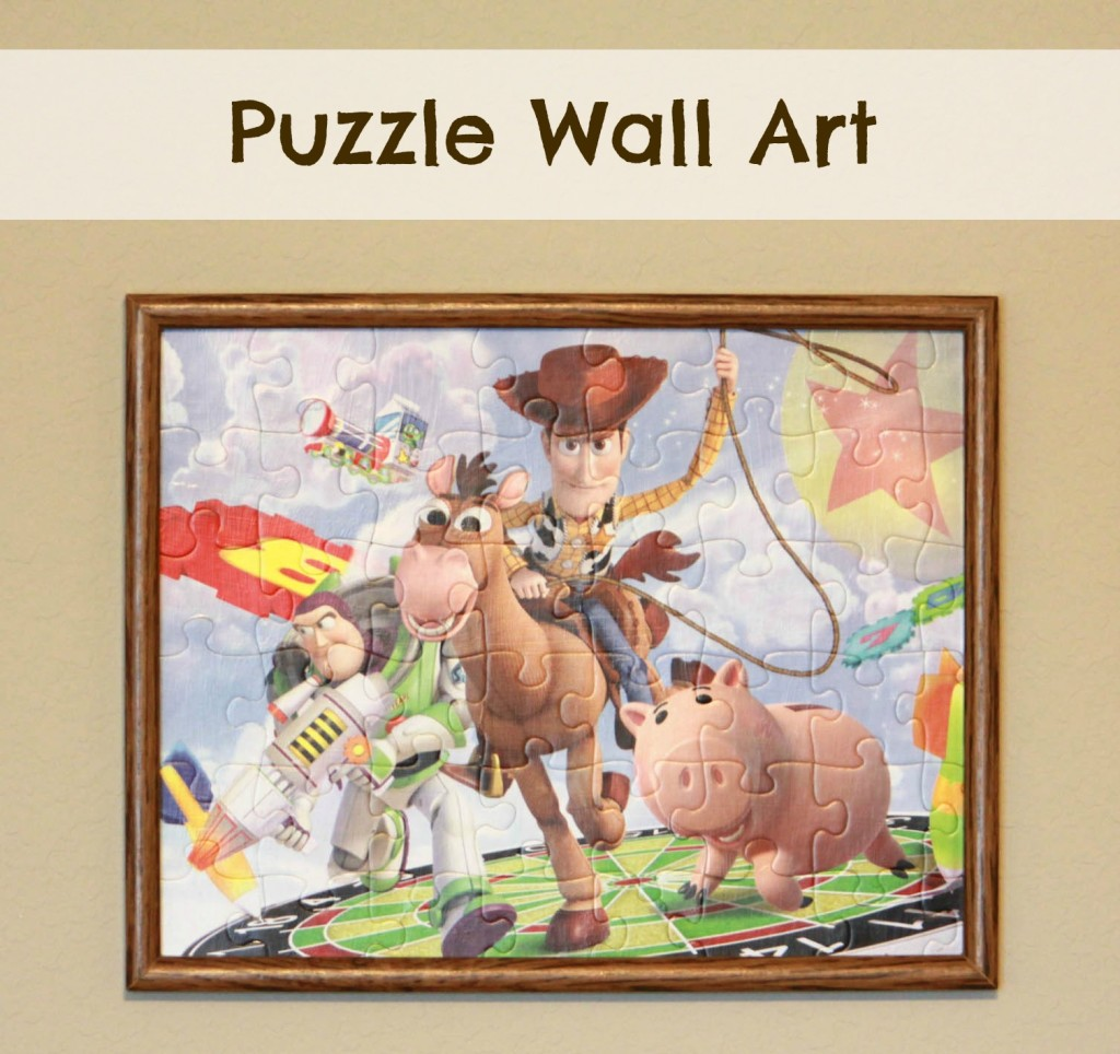 woody puzzle wall art