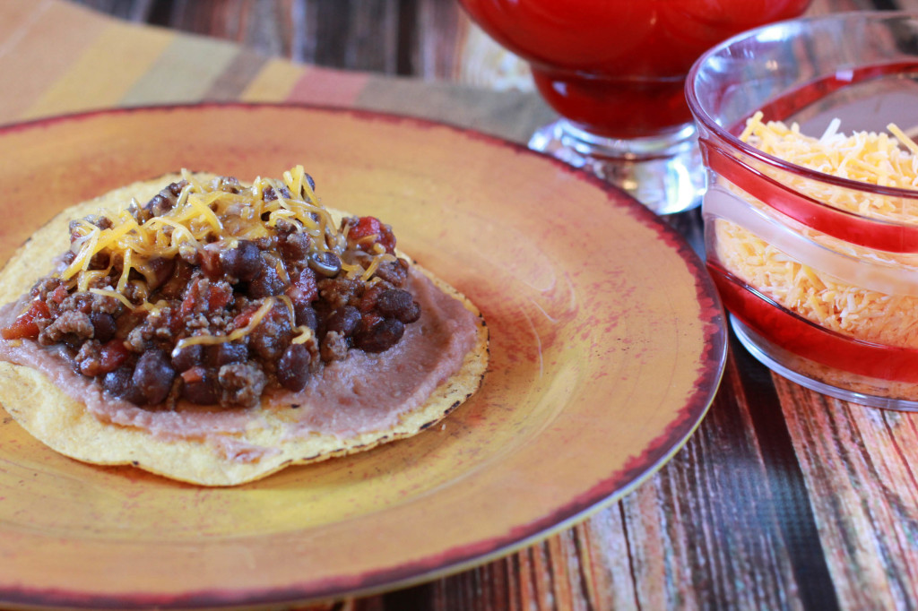beef and black bean tostada recipe