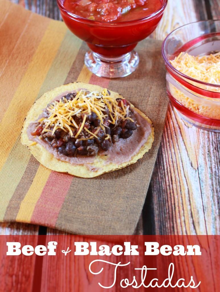 beef and black bean tostada recipe