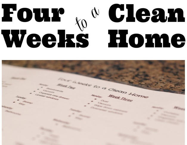 four weeks to a clean home printable