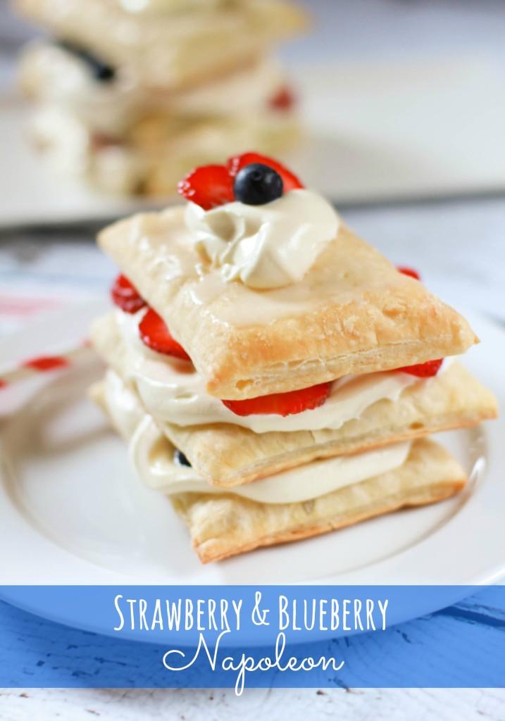 strawberry and blueberry napoleon recipe