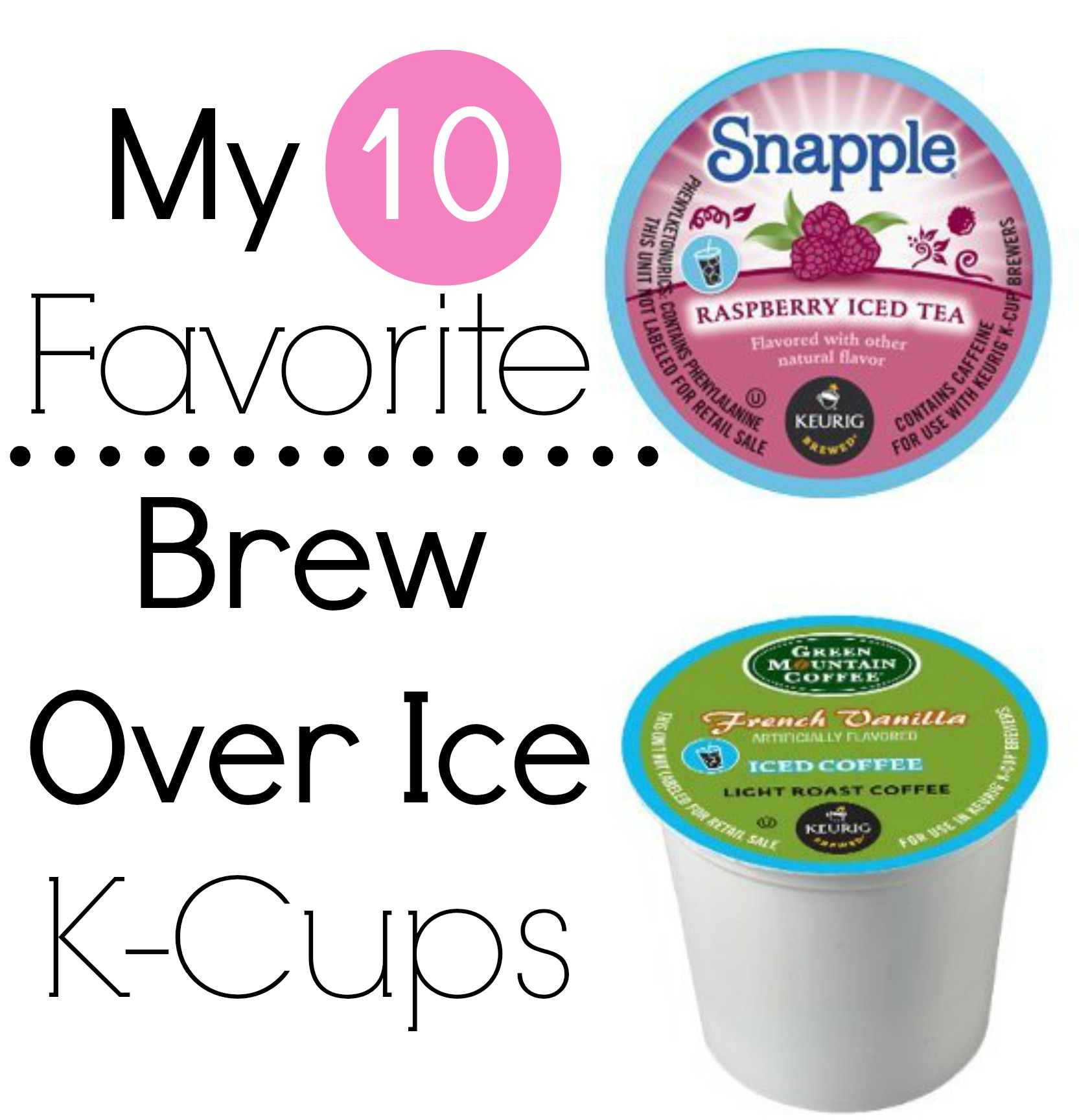 HOW DO BREW OVER ICE K CUPS WORK