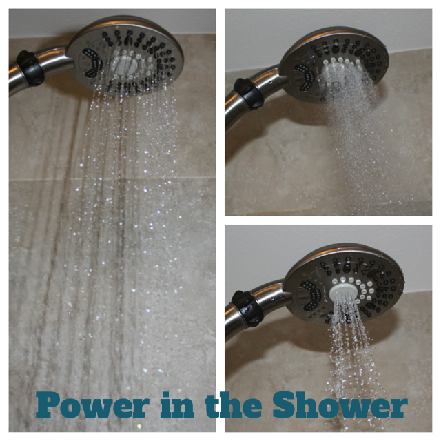 power in the shower