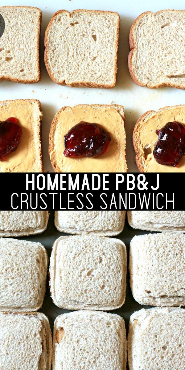 homemade pb&j uncrustables sandwich