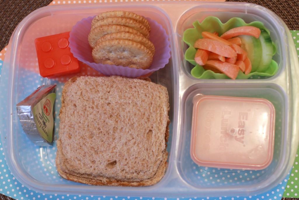 homemade pbj uncrustables lunch