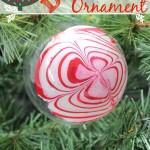 DIY Swirl Christmas Ornament