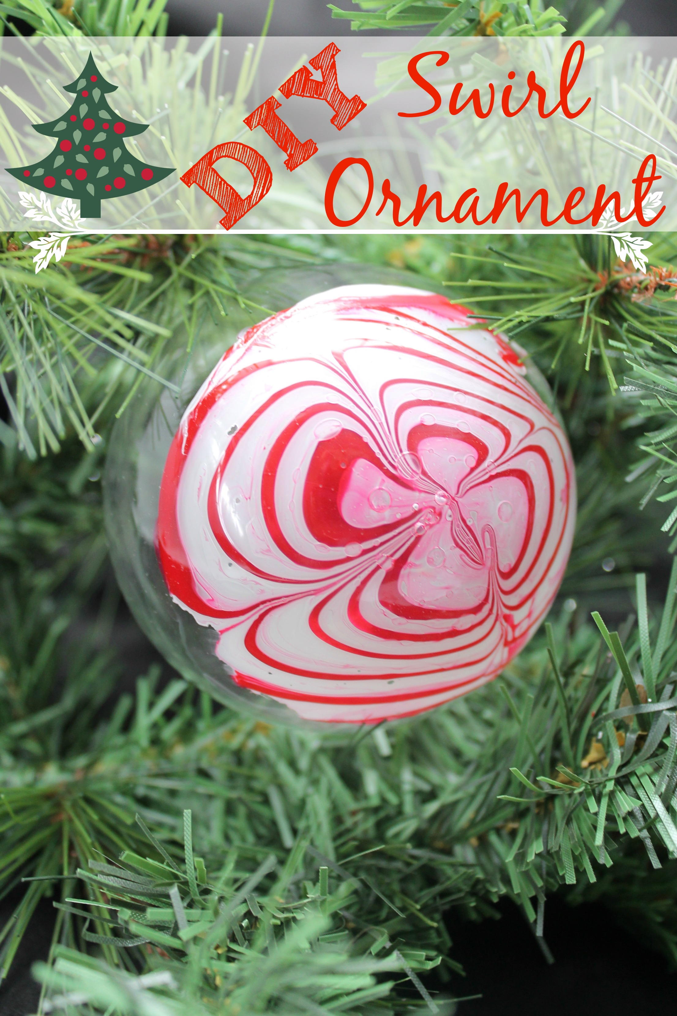 Make your own Christmas ornaments with this DIY Swirl Christmas Ornament tutorial.