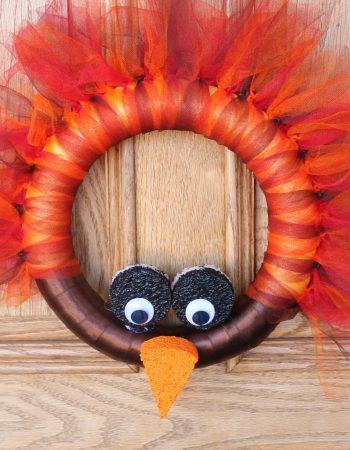 DIY Turkey Wreath Craft