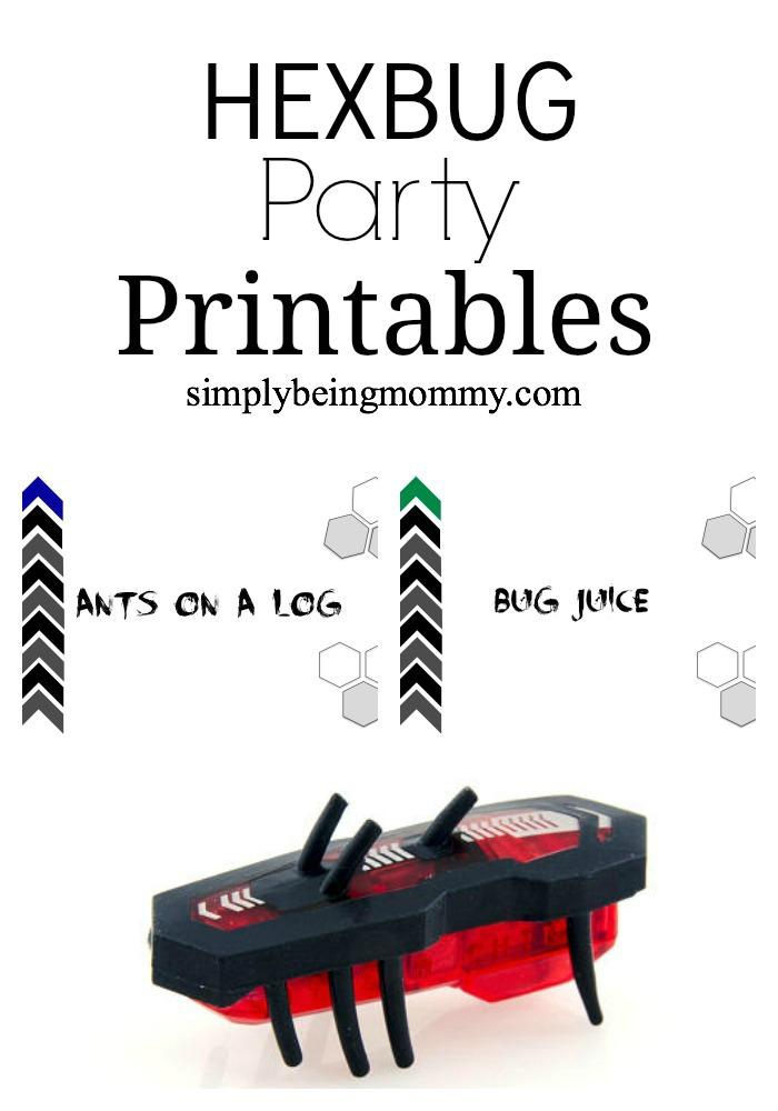 hexbug party printables