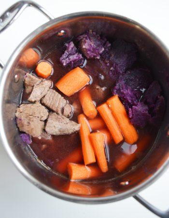 Three Hour Stew with Purple Sweet Potato