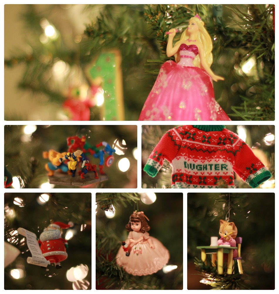 Christmas Ornament Collage
