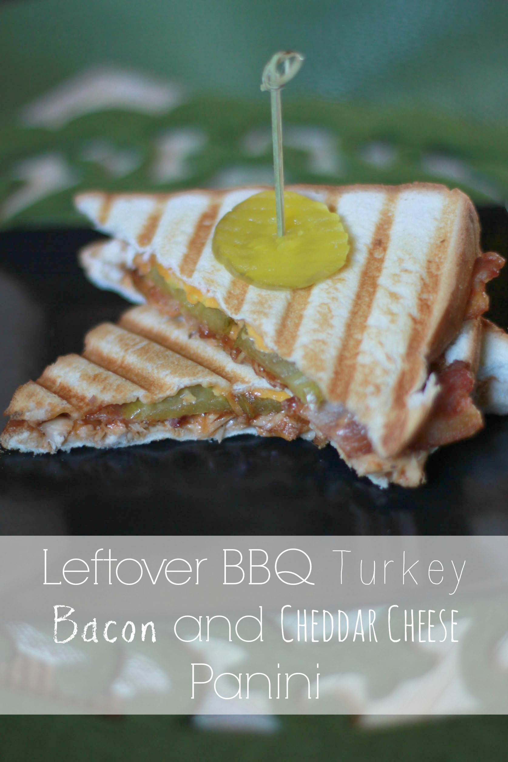 Got some Thanksgiving leftovers you need to use up? Try this Leftover BBQ Turkey Bacon and Cheddar Cheese Panini using lefotver turkey!
