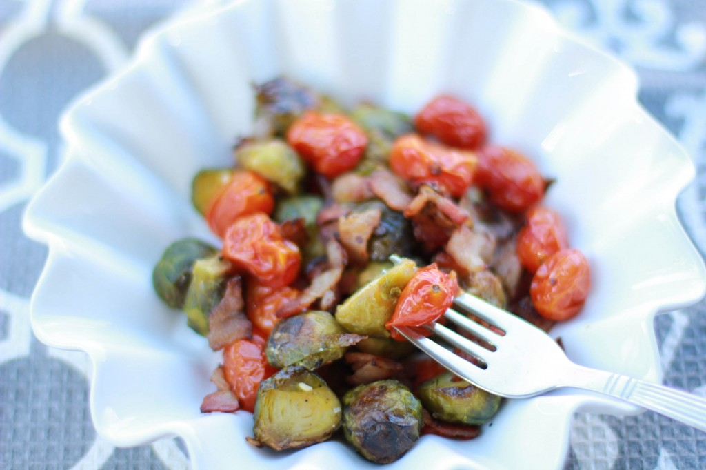 roasted brussel sprouts and grape tomatoes recipe