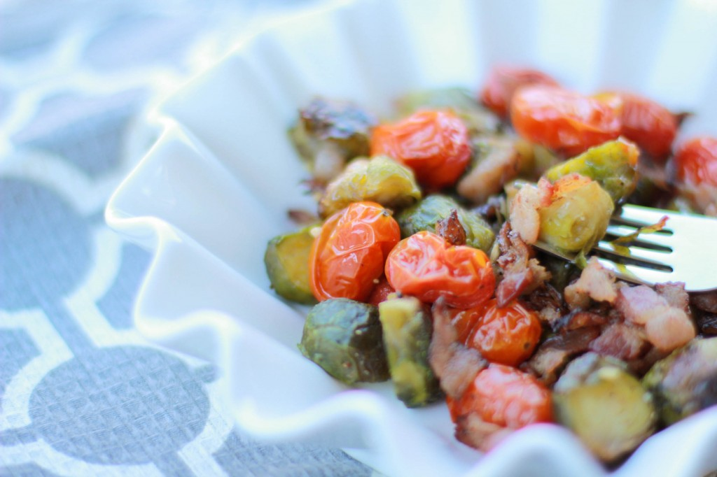 roasted brussels sprouts and grape tomatoes recipe