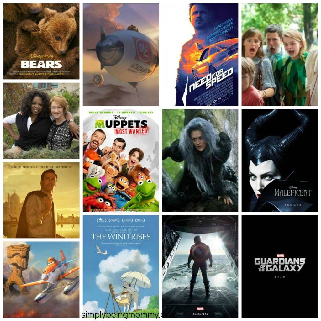 disney 2014 movie collage