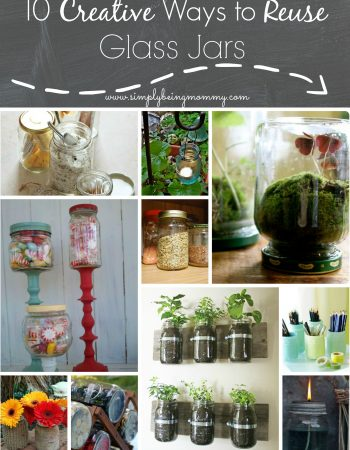 10 Creative Ways to Reuse Glass Jars