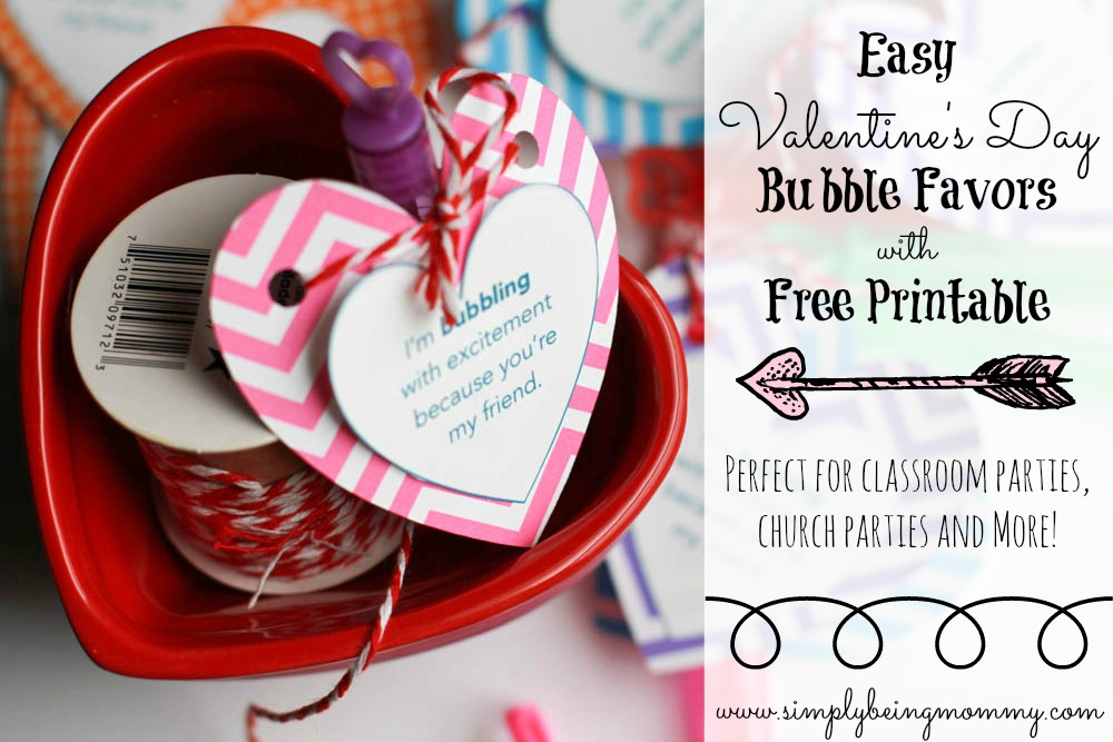 valentines day bubbles free printable