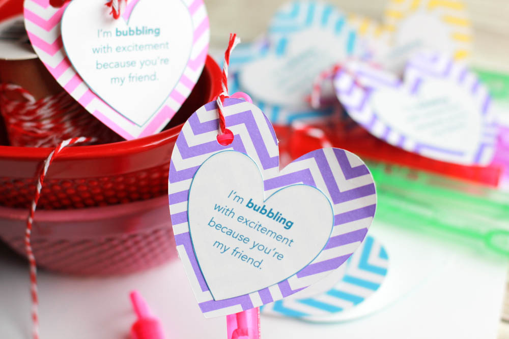 valentines day bubble favors
