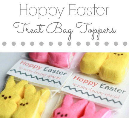 Need a quick & easy solution for an Easter treat? Try these adorable Hoppy Easter Treat Bag Toppers! With minimal supplies you can make an adorable treat.