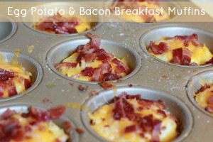 Egg Potato & Bacon Breakfast Muffins