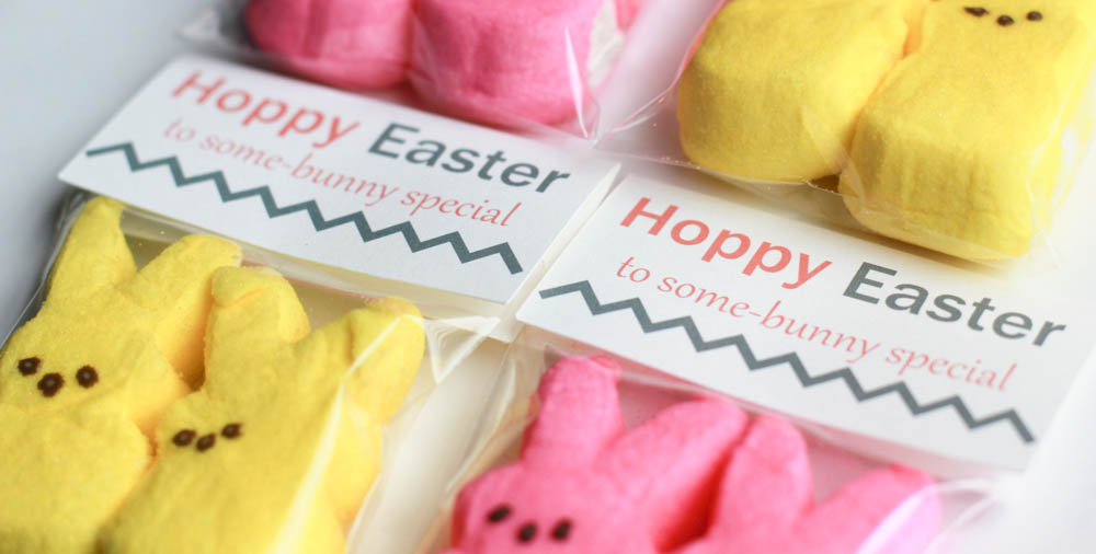 hoppy easter treat bag topper