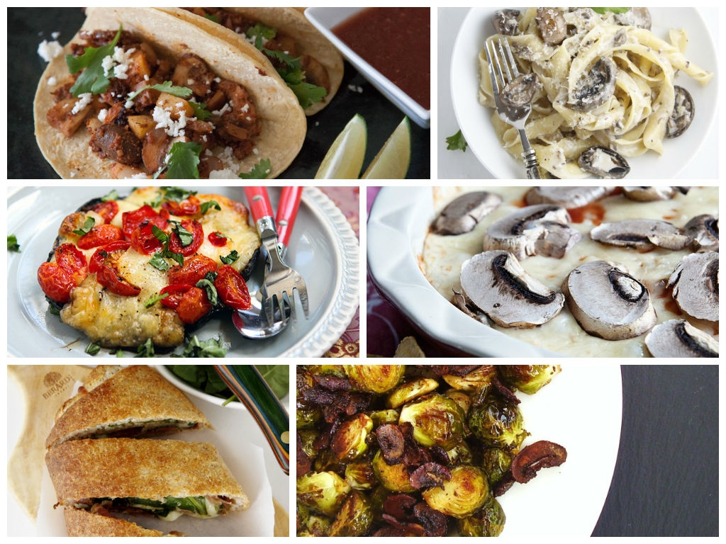 Mushroom makeover meals plus a Veggie Sloppy Joes recipe with mushrooms. Get all the mushroom makeover recipes here.