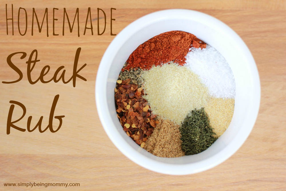 Why buy overpriced steak rub when you can make your own. Get my recipe for a tasty Homemade Steak Rub at a fraction of the cost.