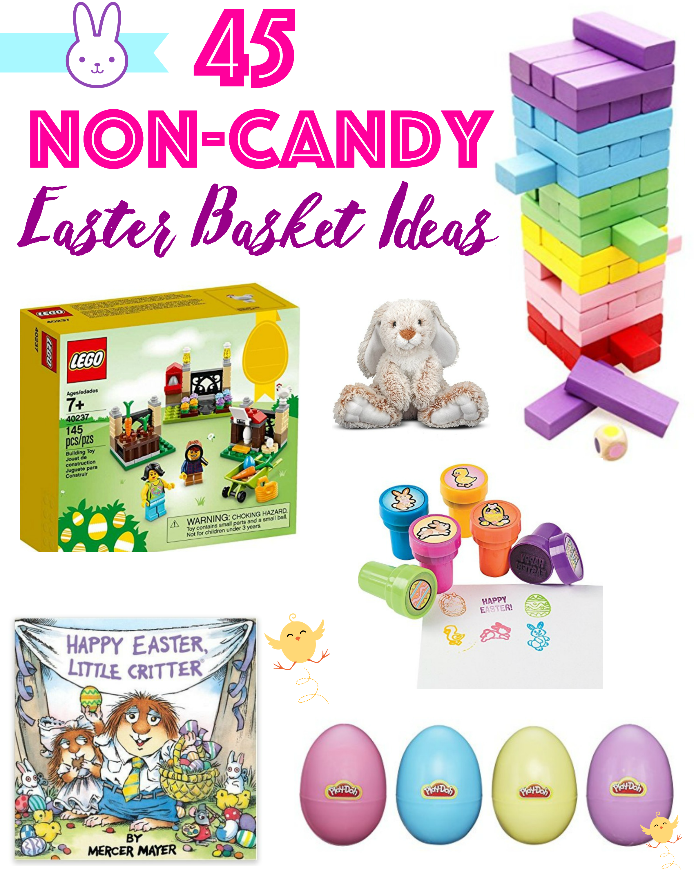 Skip the candy this year and try these non-candy Easter basket ideas instead.
