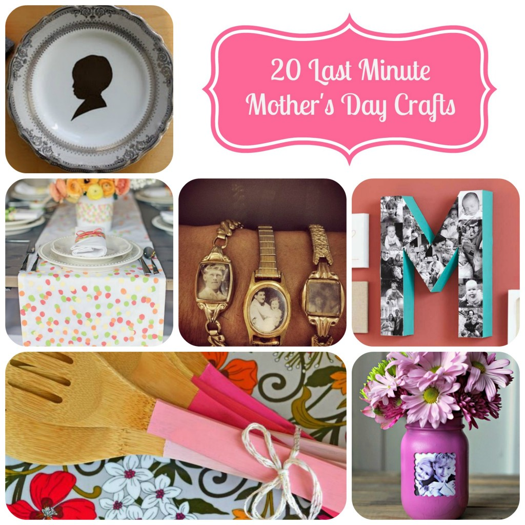 My mom has always appreciated a handmade gift. Each year I try to make something special for her. Here are some last minute Mother's Day crafts to make.