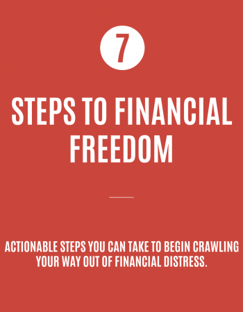 Being in a hole of debt can be scary. Here are 7 steps to financial freedom that you can actually do.