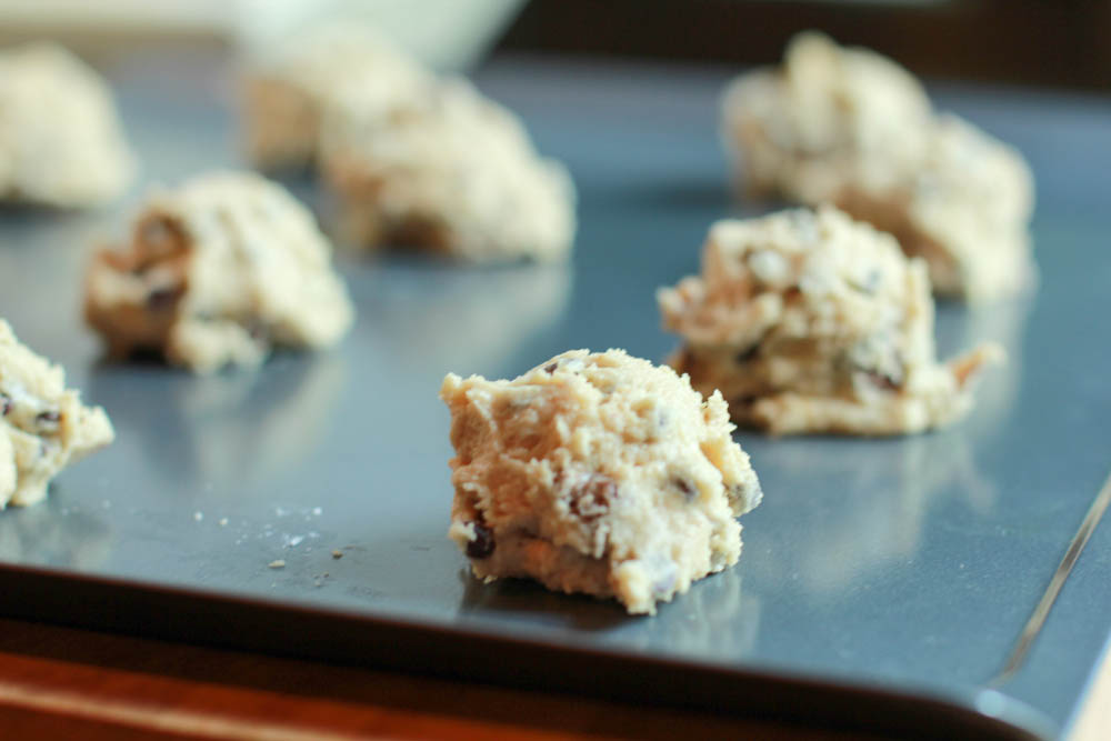 Chocolate Chip TWIX Cookies - a traditional chocolate chip cookie with pieces of Twix throughout. Chocolate Chip TWIX Cookies are perfect for sharing!